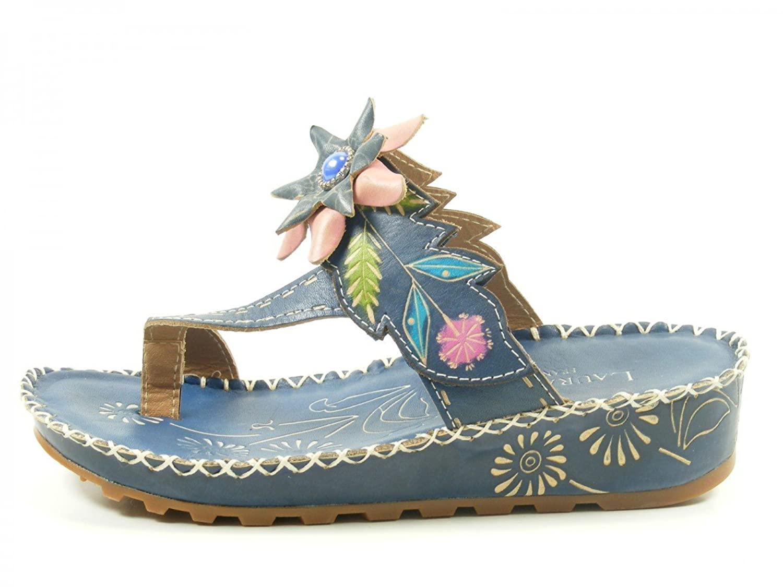 Laura Vita Damen Bryan 20 Pantoletten Blau2018 Letztes Modell  Mode Schuhe Billig Online-Verkauf