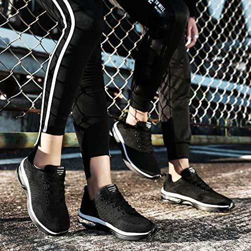 Running Calzado 5066 Sneakers Deportivas Tejidos Estudiante De Net 41 Para Volar Deporte Aire Con Gimnasia Negro 35 Logobeing Mujer Zapatos Zapatillas Cojines Yw1FW0q