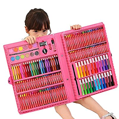 Painting & Drawing Set 238 Powder Children's Brush Gift Box Learning Stationery Art Painting Supplies Crayon Brush Watercolor Pen Set Watercolor Pens