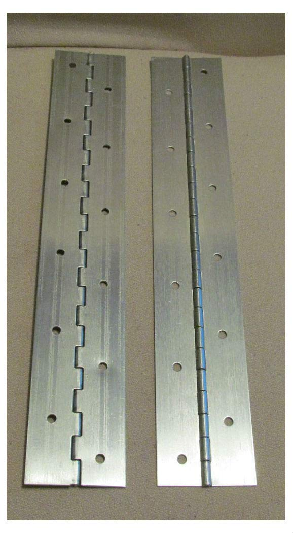 A Pair 2 Aluminum Piano Hinge 1''x1''x12'' 20 Gauge Made in USA
