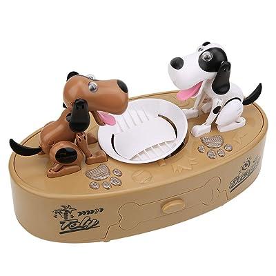 Tnfeeon Hucha de Perro eléctrico de Dinero, Mini Banco de Cerdos para niños Juguete Inteligente para cajeros automáticos niños niñas Mayores de 3 años: Juguetes y juegos
