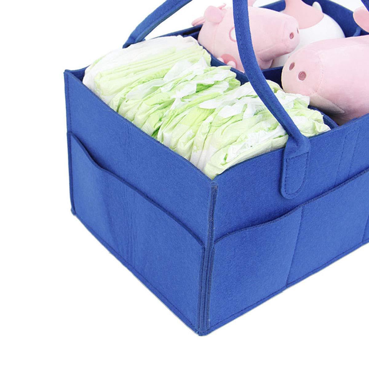38*26*18, Black Diaper Caddy Organiser Baby Nappy Storage Nursery Bin Felt Basket Wipes Bag Portable Lightly Multifunction Changeable Compartments for Mom Newborn Kids Nappies folding storage basket
