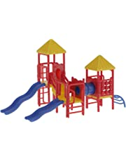 HO Scale Train Accessories Children Facility Playground Equipment Model Toy