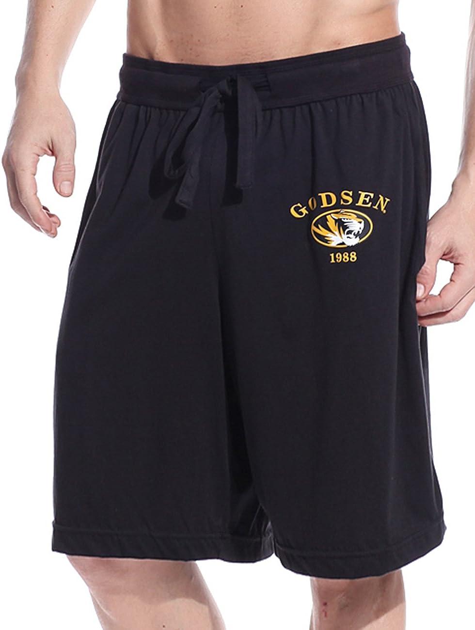 Godsen Mens Cotton Casual Shorts Sports Shorts Beach Short