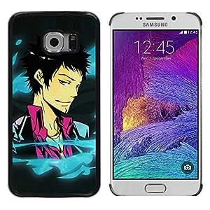iKiki Tech / Estuche rígido - Funny Cool Anime Guy - Samsung Galaxy S6 EDGE SM-G925