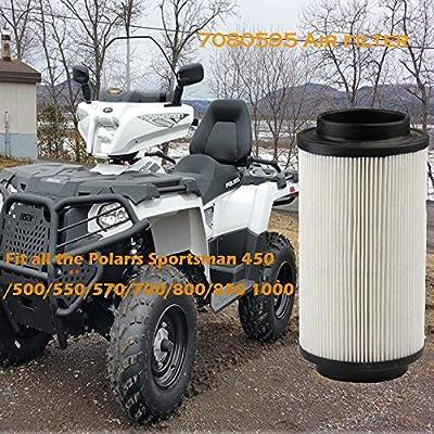Podoy 7080595 Air filter for Compatible with Polaris Sportsman Scrambler Magnum 400 500 550 570 600 700 800 850 ATV Parts: Automotive