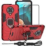 BestMX Funda para Xiaomi Poco F2 Pro/Redmi K30 Pro Case Protector de Pantalla de Cristal Templado, Híbrida Rugged Armor…