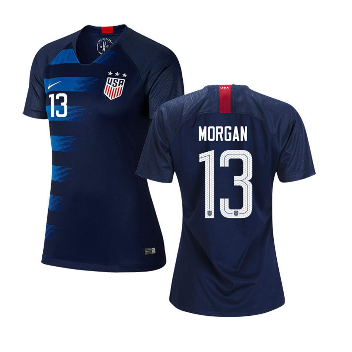 9a07aab30  13 Alex Morgan Blue USA Soccer Jersey 2018 (Medium) at Amazon Women s  Clothing store
