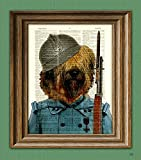 Enzo the Briard French WWI Soldier dog original art