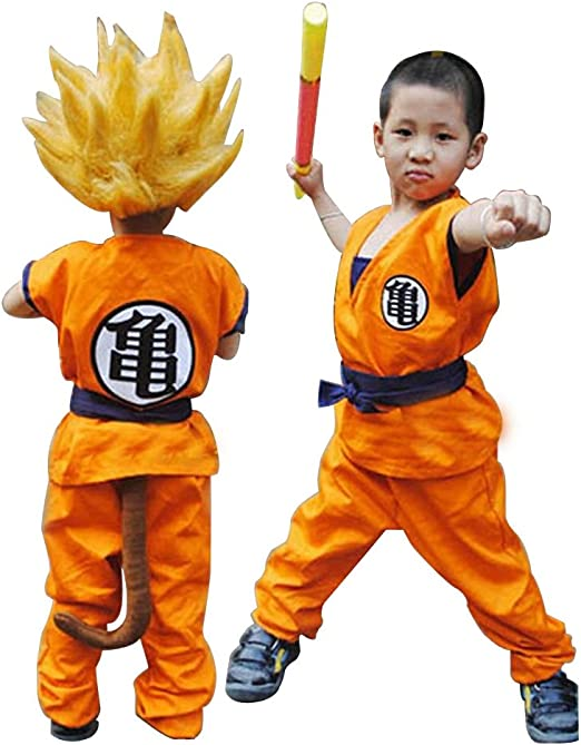 cosdaddy® Dragon Ball Z Saiyan Son Goku Cosplay disfraz infantil ...