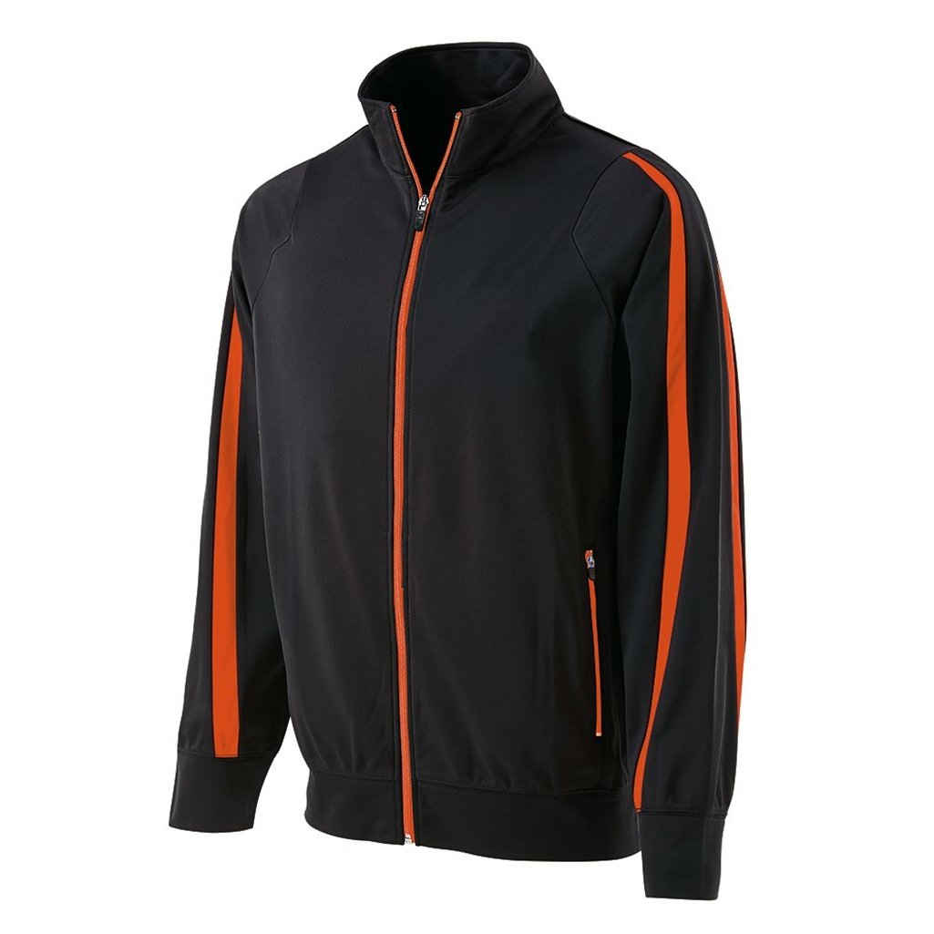 Holloway Youth Determination Jacket (Medium, Black/Orange) by Holloway