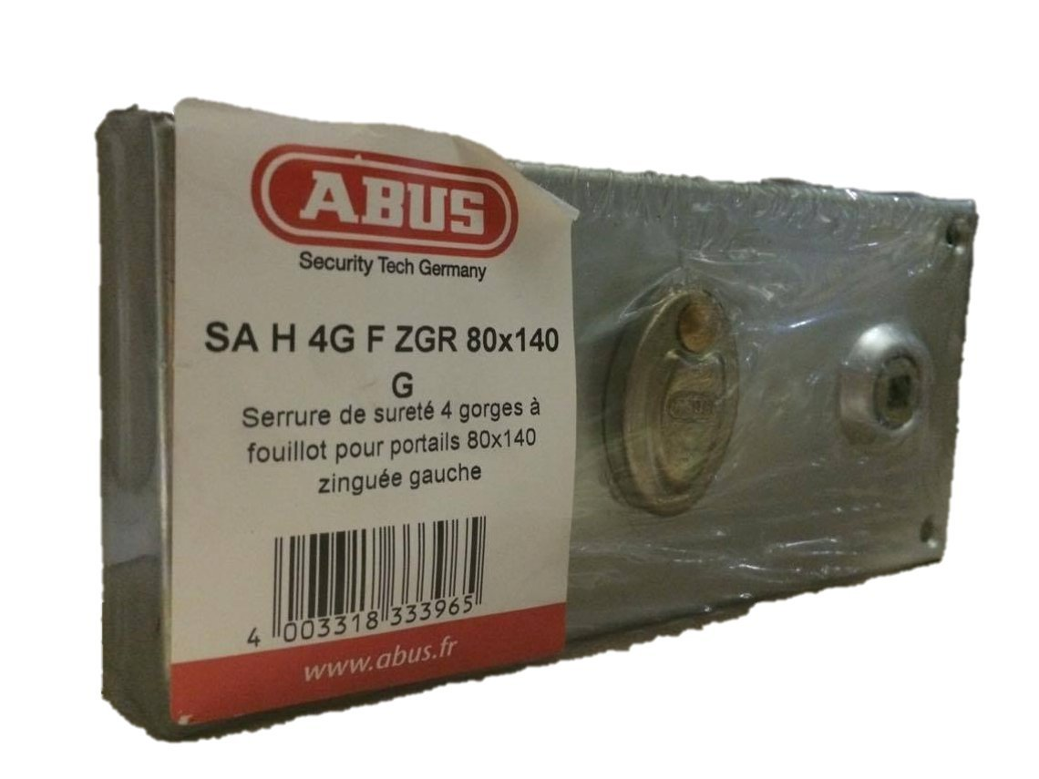 Abus ff0924227 a sa H 4 G F zgr G - Cerradura de sobreponer con asa/horizontal con cierre con llave para apertura exterior izquierda 80 x 140: Amazon.es: ...