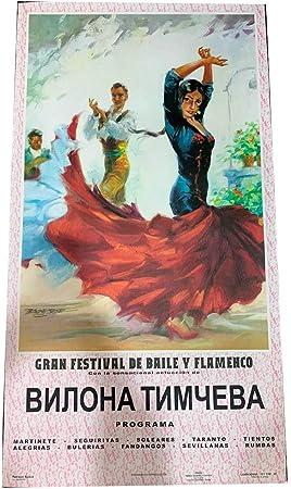 Cartel de flamenco personalizable - Vestido rojo: Amazon.es: Hogar