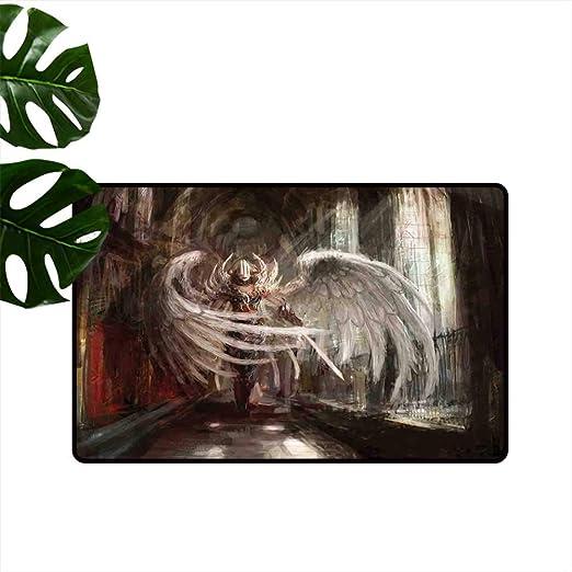 Anzhutwelve tapete de Piso con diseño de Unicornio en el jardín de Rosas, Mariposas voladoras, Romance, Cola de Hada, Arte de Perfil bajo para Entrada: Amazon.es: Jardín