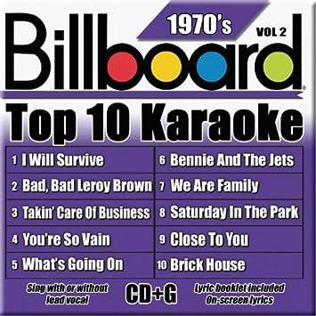 billboard karaoke billboard top 10 karaoke 1970 s vol 2 10 10