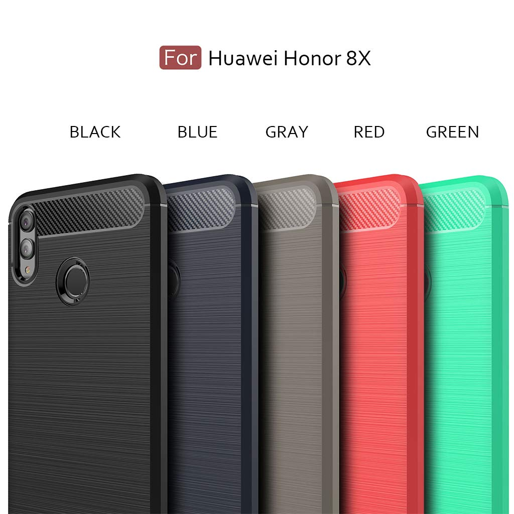 Huawei Honor 8X case, Huawei V10 lite/View 10 Lite Sucnakp TPU Shock Absorption Technology Raised Bezels Protective Case Cover Honor 8X Phone(TPU ...