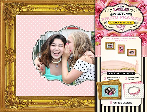 Sugar Lulu Sweet Pics Photo Frames Urban, Rose - Design Chipboard Picture Frame