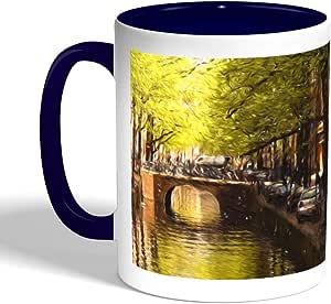 Painting Artistic Printed Coffee Mug, Blue Color