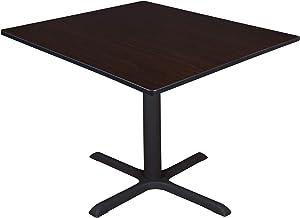 "Regency Cali Square Breakroom Table, 48"", Darkest Brown"