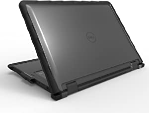 Gumdrop Cases DropTech Protection for Dell Latitude 5289 12 Inch 2-in-1 - Black, Rugged, Shock Absorbing, Custom Molded Laptop Cover