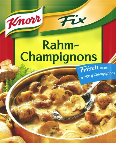 Knorr Fix creamy mushrooms (Rahm-Champignons) (Pack of 4) ()