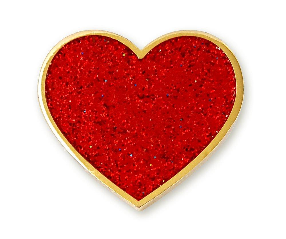 Pinsanity Digital Heart Enamel Lapel Pin