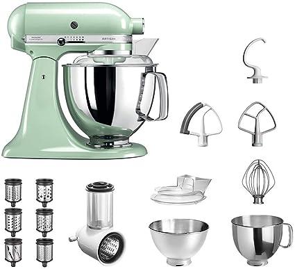 KitchenAid Robot de cocina | fop Juego | Artisan 5 ksm175ps Veggie S del paquete | con Top accesorios: Cortador de verduras con tres tambores y escofina adicional y rallador del paquete