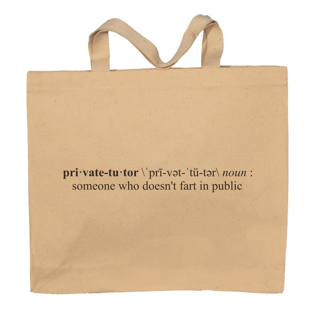 Private Tutor Funny Definition Totebag Bag