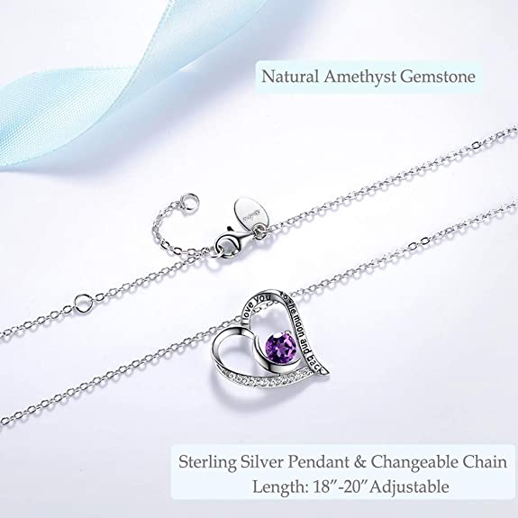 boho /& gypsy handmade silver Natural Amethyst stardust Birthstone Pendant valentines day gifts sterling silver 925 pendant