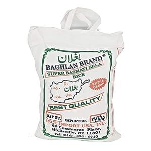 Baghlan Brand Super Basmati Sela Rice Extra Clean 10 Lbs ?? ?????? ????? ???? ?????