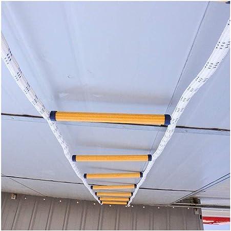 WSSRD 2-7 Historia Antideslizante de la Llama de Emergencia de Seguridad Resistente Escalera de Cuerdas con mosquetones - Reutilizable Durable Peso Capacidad hasta 900lbs 0218 (Size : 15m(49.2)): Amazon.es: Hogar