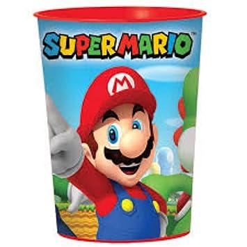 """Lote de 10 Vasos Infantiles Decorativos de Plástico """"Super Mario Bros"""". Vajillas"""
