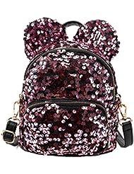 Funbase Round Rabbit Ear Sequin Backpack Mini Shoulder Bag Fashion Gift