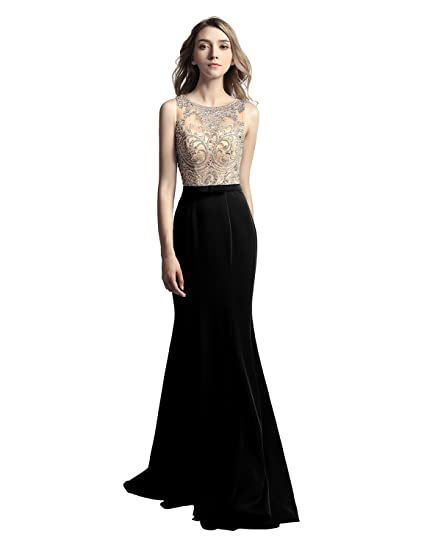 4cc302c157 Sarahbridal Long Evening Prom Dresses Elegant Party Ball Gowns Chiffon  Wedding Guest Dress with Beading Applique for Women SLX277: Amazon.co.uk:  Clothing
