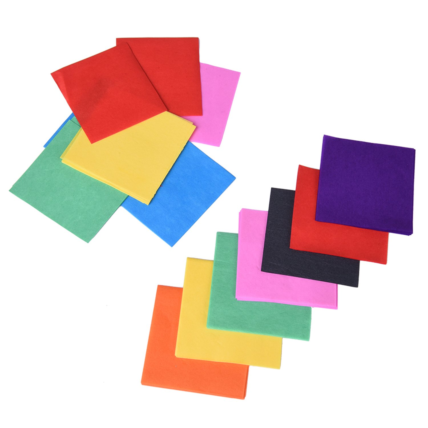 Outus Multicolor Tissue Paper Squares 1.96 x 1.96 Inch 2400 Pieces