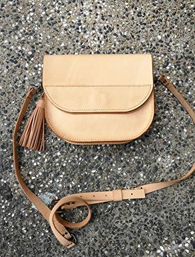 - Natural Leather Saddle bag, Handmade Leather bag, Leather Shoulder bag, Hand stitch leather bag, Crossbody Leather bag, Handmade leather