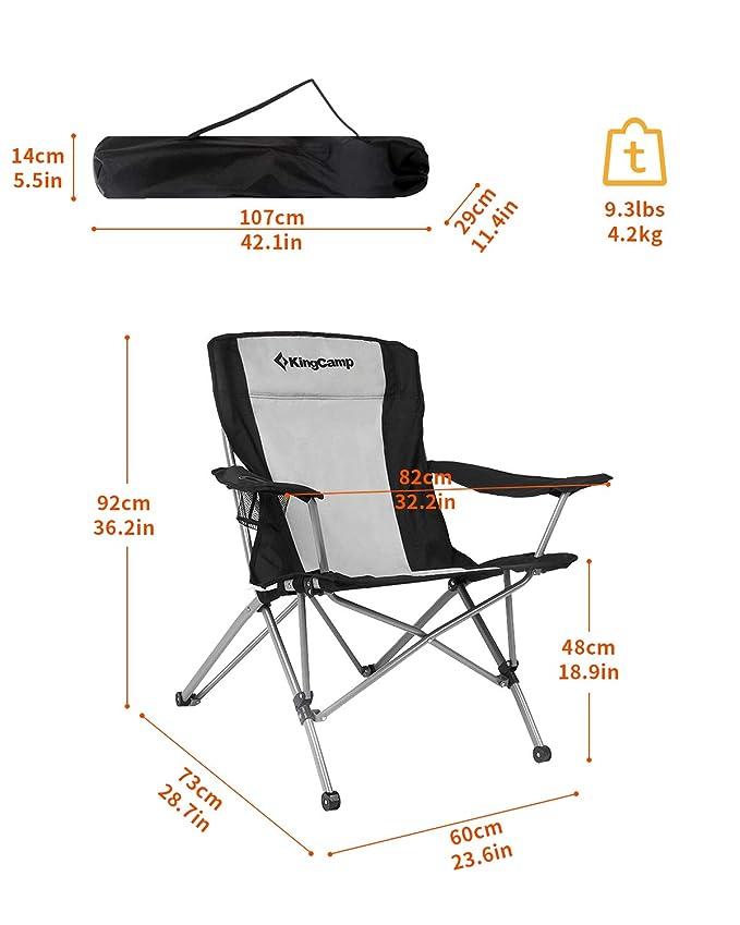 Amazon.com: KingCamp, sillón plegable muy resistente ...