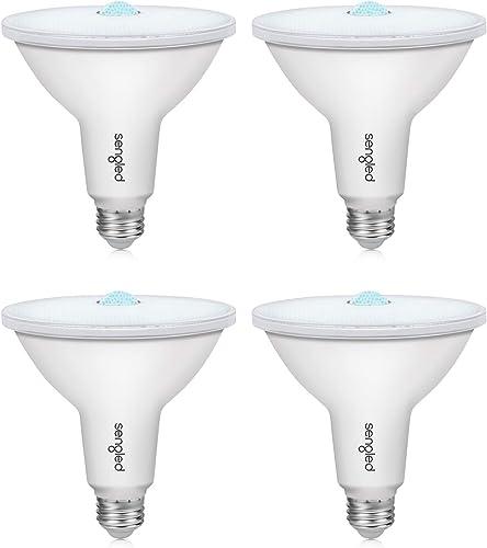 Sengled Motion Sensor Light Outdoor, Dusk to Dawn LED Outdoor Lighting, Security Flood Light PAR38 Photocell Motion Sensor, Waterproof, 5000K 1050LM, 4 Pack