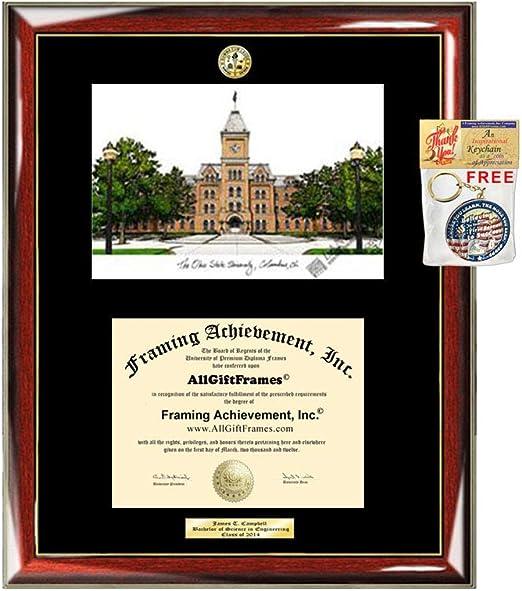 ohio state diploma frame