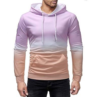 aimee7 Sweats con capucha para hombre Slim Fit degradado Color ...