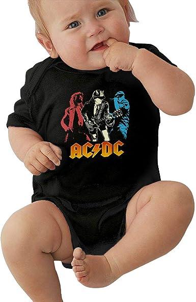 BAOQIN ACDC Body de bebé Body de Jersey de Manga Corta Camiseta de algodón 0-24 Meses
