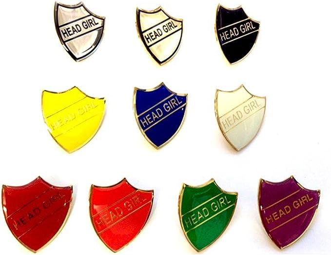 Head Girl School Shield Badge Handmade Vitreous Enamel