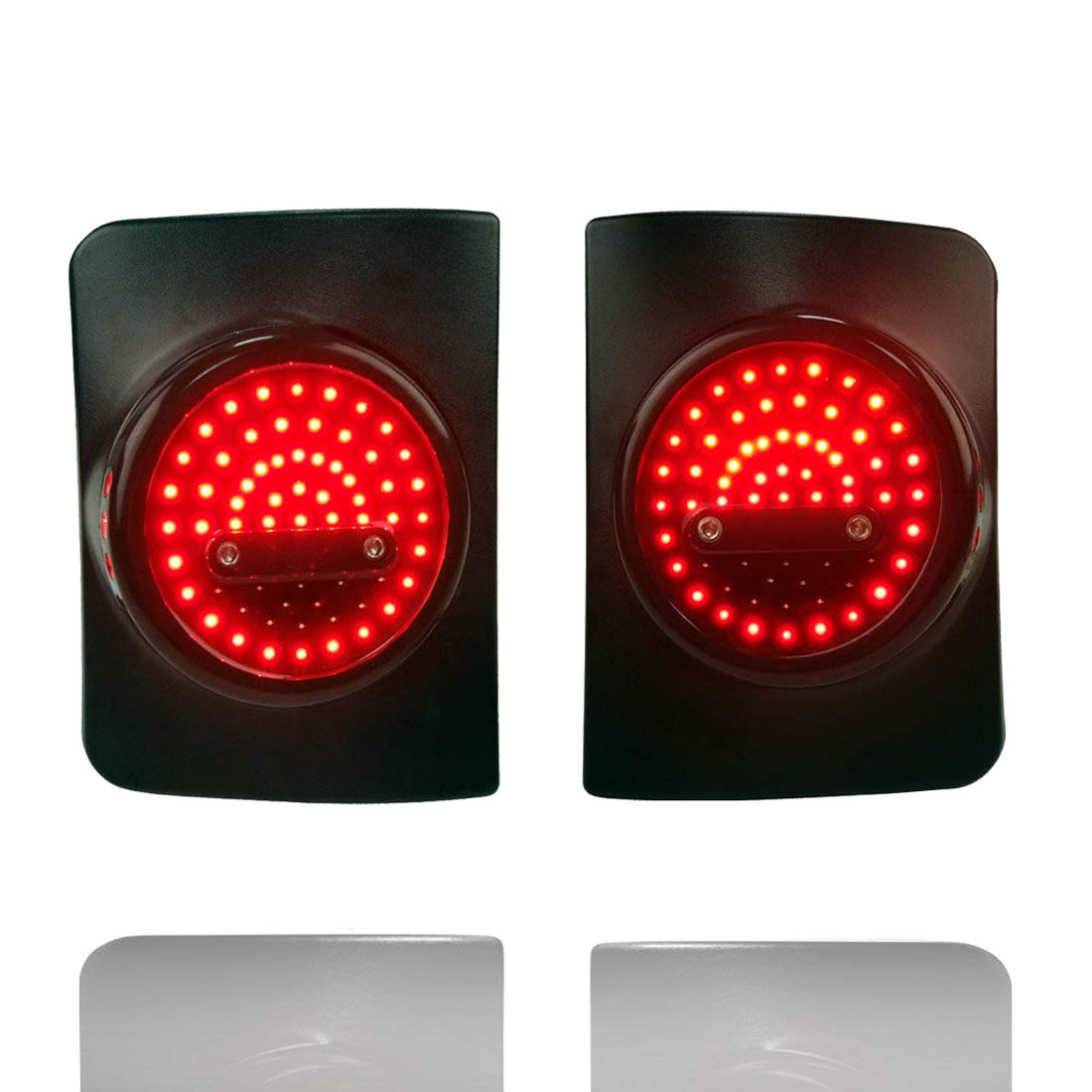 TURBO SII Black Light Guard for Rear Taillights Cover fits for 2007-2018 Jeep Wrangler JK Unlimited Pair Tail Light