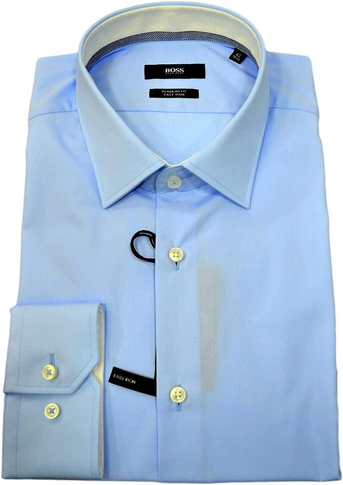 BOSS Hugo 50415621 Guran Regular Fit Celeste - Camisa para ...