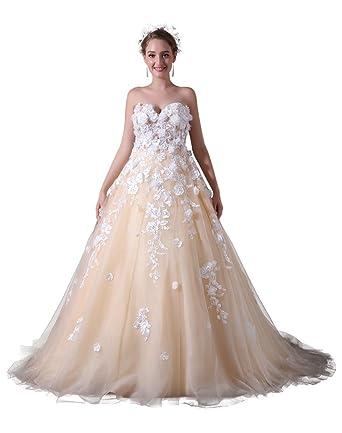 a line princess wedding dresses. deshe women\u0027s a-line princess wedding dresses long lace appliques tulle dress for bride a line b