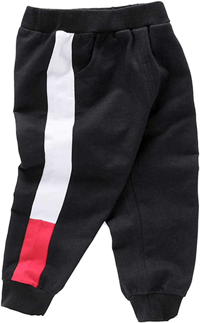Love at First Pizza Boys Joggers Pants//Athletic Pants Casual Cotton Sweatpants Joggers for Boys