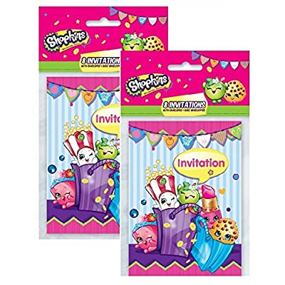 Shopkins Invitations Pack (16): Toys & Games