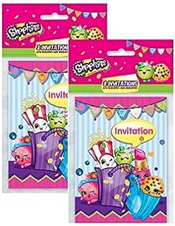 Amazoncom Shopkins Party Invitations 8ct Toys Games