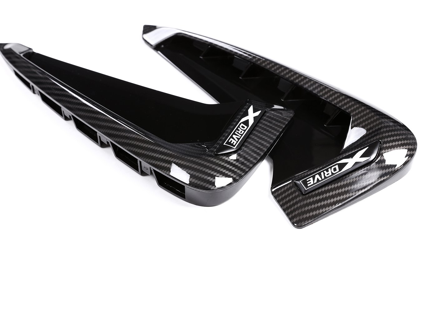 ABS Xdrive Carbon Fiber Shark Gills Side Decoration Fender Vent Trim for BMW X5 F15 X5M F85 14-17