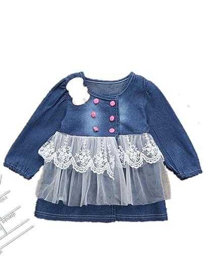 7627bbbcea2b Amazon.com  Toddler Kids Girls  Denim Dresses